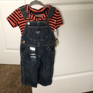 NWT Oshkosh button up shirt and overalls